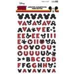 Adesivos Alfabeto EVA Puro Glitter Mickey Mouse Ref.20805-ADD18 Toke e Crie