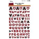 Adesivos Alfabeto EVA Puro Glitter Minnie Mouse Ref.20804-ADD17 Toke e Crie