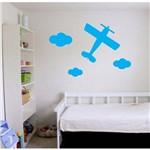 Adesivos Avião + Nuvens Infantil Decoração Quarto Decoração