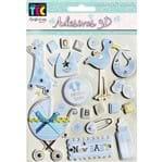 Adesivos 3D Toke e Crie 12 X 18 Cm Artigos de Bebê Menino
