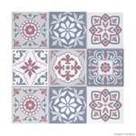 Adesivos de Azulejo Flamant 24 Unidades Grudado Adesivos