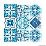 Adesivos de Azulejo Portugal 24 Unidades Azul Grudado Adesivos