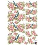 Adesivos Decorativos Flores e Pássaros Ref.21045-TDM26 Toke e Crie
