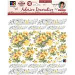 Adesivos Decorativos Toke e Crie Hibisco Amarelo By Mamiko Tdm19 20645