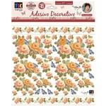 Adesivos Decorativos Toke e Crie Rosas Laranja By Mamiko Tdm21 20647