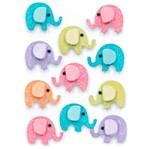 Adesivos Feito à Mão com Glitter Mini Toke e Crie AD1936 Elefantinhos