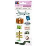 Adesivos Feito à Mão com Glitter Toke e Crie Viagem - 17588 - Ad1707