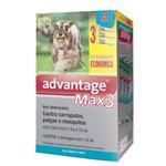 Advantage MAX3 com 1 ML para Cães de 4 a 10 Kg - 3 Bisnagas