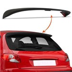 Aerofólio Peugeot 206 Hatch 00 a 10 e 207 09 a 15 Preto 2 ou 4 Portas Sem Brake Light