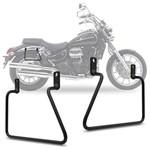 Afastador de Alforje Moto Dafra Horizon 250 2013 a 2016 Par Suporte Lateral para Bolsas Preto