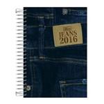 Agenda 2017 Jeans M5 Preta Espiral Tilibra