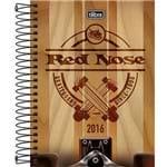 Agenda Diária 2016 Red Nose Fundo Madeira - Tilibra
