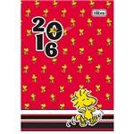 Agenda Diária 2016 Snoopy Fundo Vermelho - Tilibra