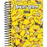 Agenda Diária Angry Birds Amarelo Jandaia 352 Páginas Capa Dura - 12 Meses