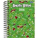 Agenda Diária Angry Birds Verde Jandaia 352 Páginas Capa Dura - 12 Meses