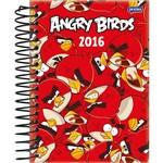 Agenda Diária Angry Birds Vermelho Jandaia 352 Páginas Capa Dura - 12 Meses