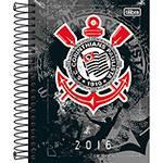 Agenda Diária Corinthians Fundo Cinza com Desenhos 2016 - Tilibra