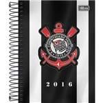 Agenda Diária Corinthians Fundo Preto e Branco 2016 - Tilibra