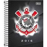 Agenda Diária Corinthians Simbolo com Sombra Branca 2016 - Tilibra