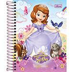 Agenda Diária Escolar M4 Princesinha Sofia Tilibra Azul Capa Dura - 12 Meses