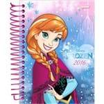 Agenda Diária Frozen Elsa Jandaia 352 Páginas Capa Dura - 12 Meses