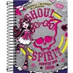 Agenda Diária Monster High M4 Ghoul Spirit Tilibra Colorida Capa Dura - 12 Meses