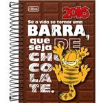 Agenda Juvenil Garfield Fundo Marrom 2016 - Tilibra