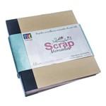 Álbum P/Scrapbook Momentos 22x24cm Preto e Kraft Asm002 - Toke e Crie