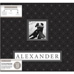 Álbum para Scrapbook K&C WER248 Black Alexander 30,5x30,5 Preto