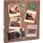 Álbum Viagem Folhas Coladas 120 Fotos 10X15 586 Marrom - Ical