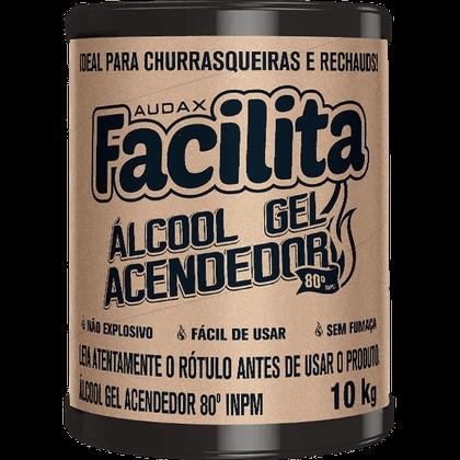 Álcool Gel para Queima 80° 10Kg Audax Facilita