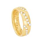 Aliança em Ouro 18K Confort com Diamantes Feminina - AU6332