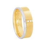 Aliança em Ouro 18K Fosca com Diamantes Feminina - AU6329