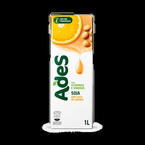 Alimento com Soja Ades Laranja 1l