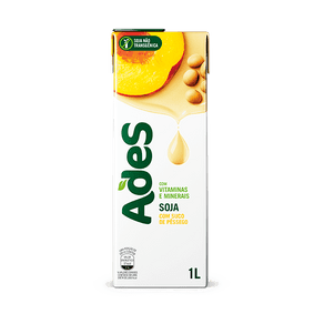 Alimento com Soja Ades Pêssego 1l
