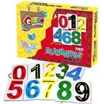 Alinhavos Numerais Mdf 10 Bases 10 Cadarços 3019 - Carlu