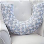 Almofada Amamentação Losango Azul