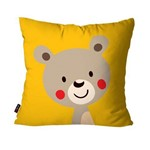Almofada Avulsa Infantil Amarelo Urso