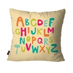 Almofada Avulsa Infantil Off White Alfabeto