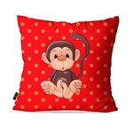 Almofada Avulsa Infantil Vermelho Macaco