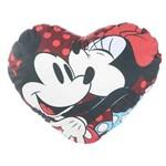 Almofada Coração Mickey e Minnie 40x40cm