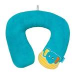 Almofada de Pescoço Elefantinho Azul - Buba
