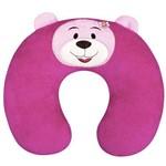 Almofada de Pescoço para Bebê Ursinho Pink Plush
