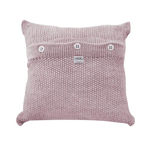 Almofada de Tricot Ponto Clássico Rosa 45 X 45 Cm