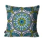 Almofada Decorativa Avulsa Azul Mandala