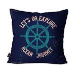 Almofada Decorativa Avulsa Azul Ocean Journey