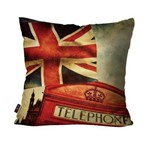Almofada Decorativa Avulsa Bandeira da União e Telephone