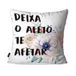 Almofada Decorativa Avulsa Branco Frases Afeto