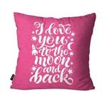 Almofada Decorativa Avulsa Rosa I Love You