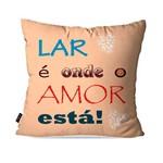 Almofada Decorativa Avulsa Salmão Frases Lar Amor